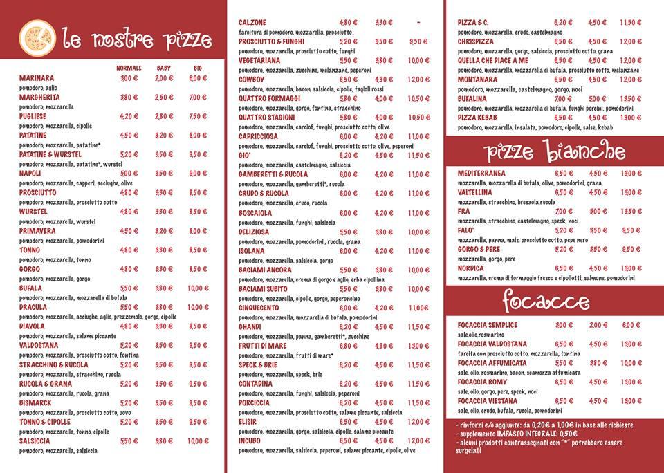 RealTimeMenu.com \\u003e Locali \\u003e Pizzeria Pizza \\u0026 C. \\u003e Il  menu di Pizza \\u0026 C. di Mondovì